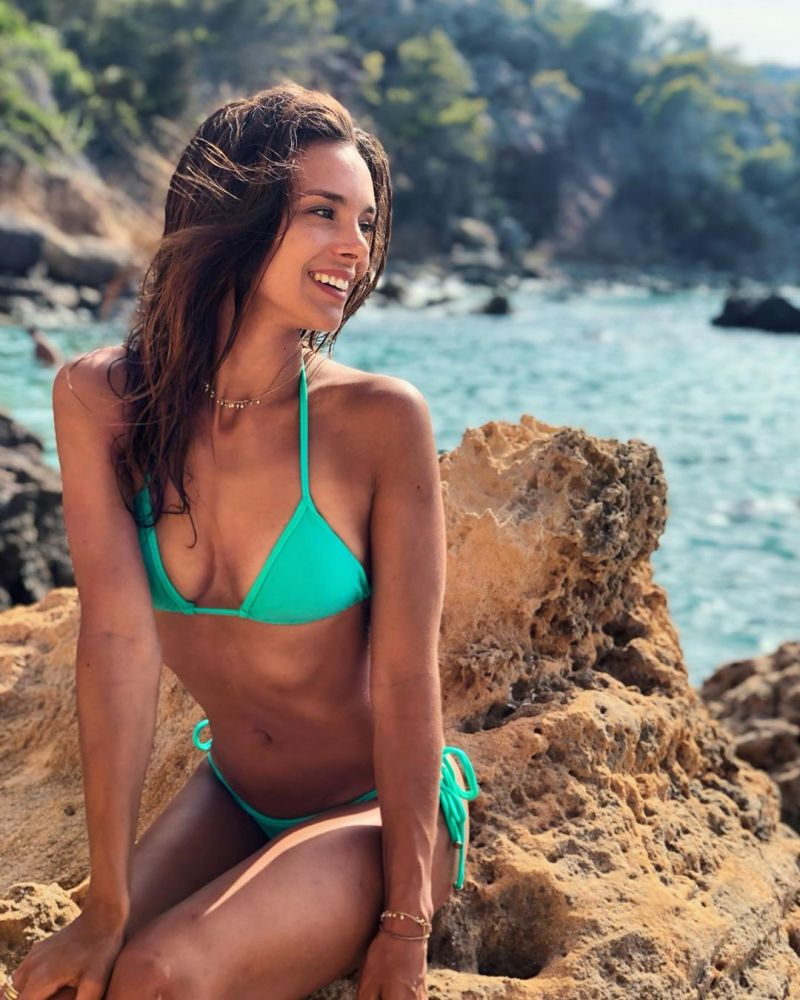Green side-tie Brazilian bikini - MARESIA TRI