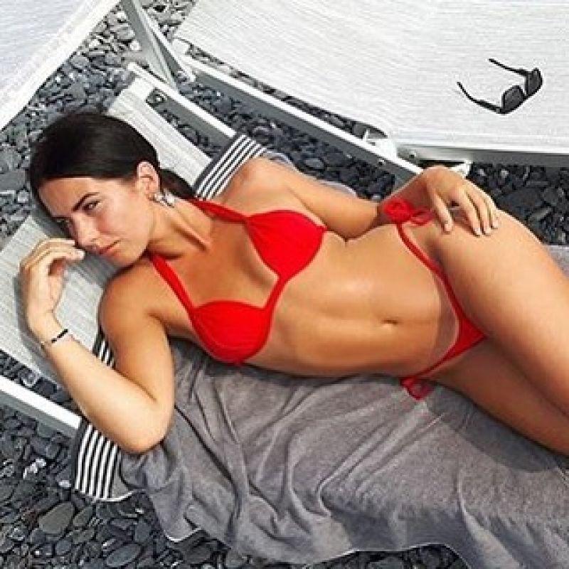 Röd bikini nedredel med sidoband - RED LACINHO
