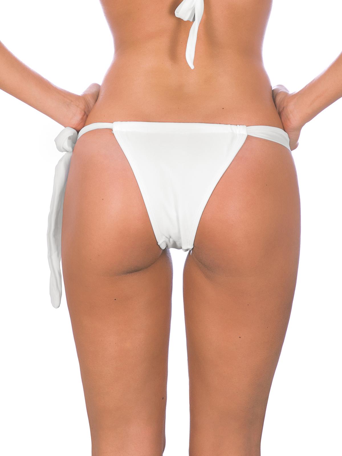 rio de sol white sliding tie side bikini bottom   branco lace