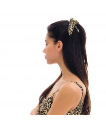 Leopard print hair scrunchie - LEOPARDO SCRUNCHIE