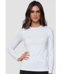 White long sleeve for women - UPF50 - CAMISETA UVPRO BRANCO FEM - SOLAR PROTECTION UV.LINE
