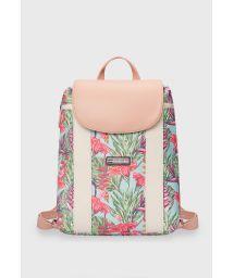 Nude tropical print waterproof backpack - MINI BACKPACK HARMONY MINT
