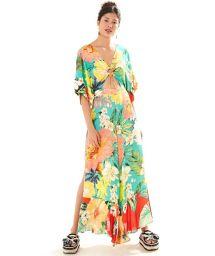 Strand-Jumpsuit mit großen farbigen Blumen - MACACAO MAXI FILIPINAS