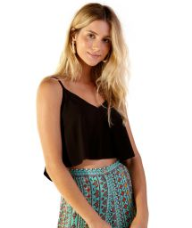 Black light beach top - BLUSA NEW ALCINHA PRETO