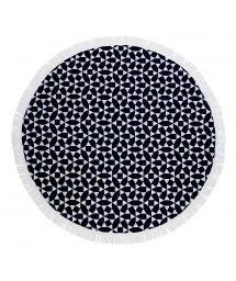 Пляжное круглое полотенце темно-синего/белого цвета- ROUND TOWEL ANDAMAN