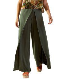 Wallet style green loose beach pants - BOTTOM LULE GAYA VERDE