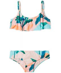 Girl`s two-piece swimsuit in pastels - BIQUINI BABADO BRISA