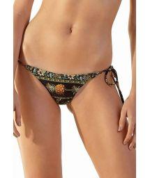Black & ocher Brazilian bikini bottom - BOTTOM ICEBERG KASUTI