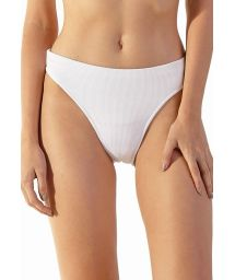 White ribbed high-leg bikini bottom - BOTTOM LIGHT BRANCO