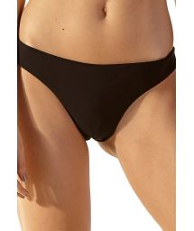 Fixed black skimpy Brazilian bikini bottom - BOTTOM SUM LISO BICOLOR