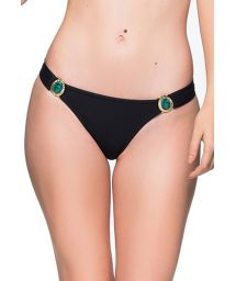 Black fixed bikini bottom with stones - BOTTOM PEDRAS PRETO LP