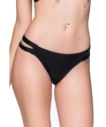 Black Brazilian bikini bottom double side - BOTTOM TIRAS PRETO