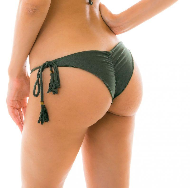 Khaki scrunch bikini bottom - BOTTOM CROCO FRUFRU