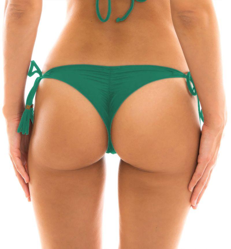 Grön, rynkad string med pompoms - BOTTOM MALAQUITA EVA MICRO