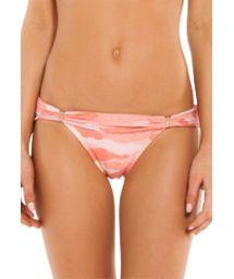 Accessorized pink camo Brazilian bikini bottom - BOTTOM BIA TUBE CAMU