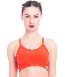 Dark orange sports bra, graphic back - TOP GIRONELLA
