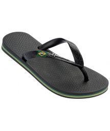 Black Flip Flops - Ipanema Classica Brasil II Kids Black