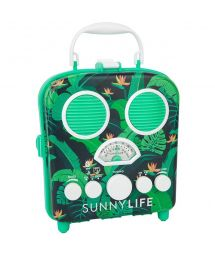 Smartphone compatible green portable radio - BEACH SOUNDS MONTEVERDE