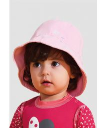 Pink soft hat for a little girl - UPF50 - CHAPÉU NAPOLI BASIC KIDS - ROSA - SOLAR PROTECTION UV.LINE
