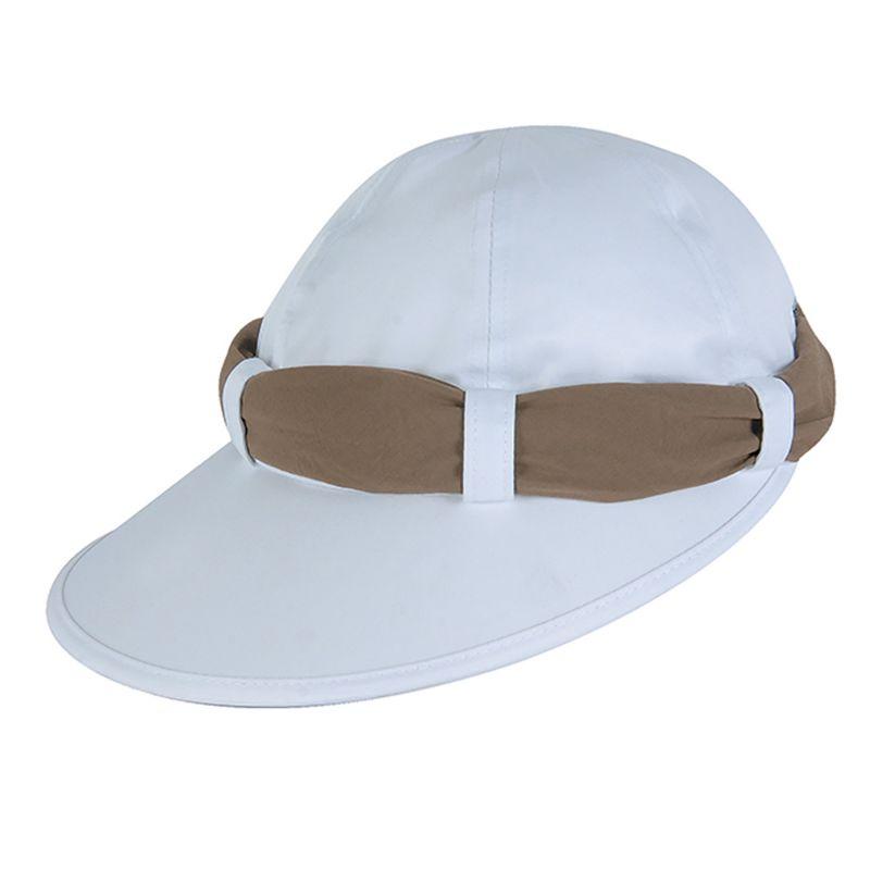 Vit mössa med khakifärgad bandana - VISEIRA SAINT TROPEZ BRANCO/KAKI - SOLAR PROTECTION UV.LINE