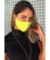 Многоразовая защитная маска желтого цвета - FACE MASK BBS10