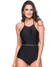 Black slimming one-piece swimsuit - MEDIDAS PRETO