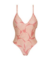 High-leg one-piece swimsuit in rose print - BANANA ROSE HYPE