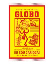 Red and yellow Globo biscuits pareo - BISCOITO GLOBO VERMELHO