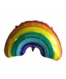 Regnbåge aluminium luftballong - BALLOON RAINBOW