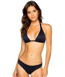 Triangle black halter bikini with fixed bottom - LACE MAR COSTA DEL SOL