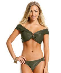 Кроп-топ бикини в армейском зеленом цвете - стиль Бардо - GREEN LISOS