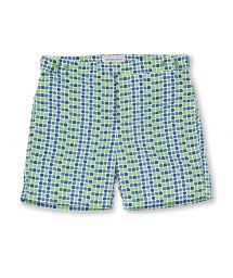 Пляжные шорты в сине-зеленой расцветке - CACAU TAILORED SHORT GREEN