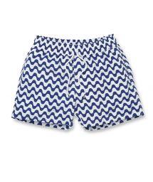 Бело-синие пляжные шорты - COPACABANA SPORT NAVY BLUE