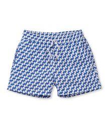 Купальные шорты в геометрический принт синего/белого цвета - LEME SPORT SLATE BLUE