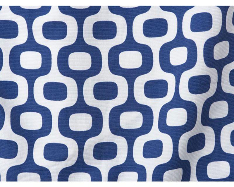 White & marine blue beach shorts - IPANEMA SPORT NAVY BLUE