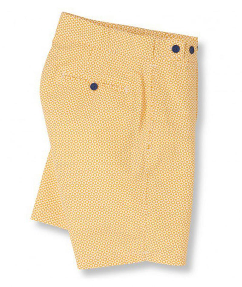Yellow beach shorts with yellow / orange graphic print - IPANEMA TAILORED LONG SUNFLOWER