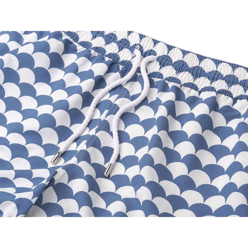 White & washed blue beach shorts - NORONHA SPORT SLATE BLUE