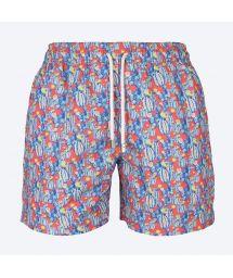Купальные шорты синего/красного цветов с изображением кактусов- CACTUS VERMELHO