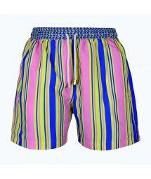 Мужские купальные шорты в разноцветную полоску - NAUTIC