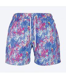 Купальные шорты синего/фиолетового цветов с изображением птиц - RAMAS