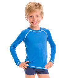 Blue long sleeve for kids - SPF50 - CAMISETA AZUL - SOLAR PROTECTION UV.LINE