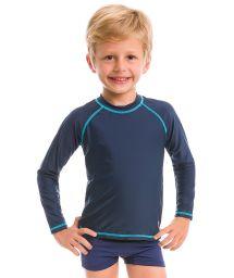 Navy long sleeve for kids - SPF50 - CAMISETA MARINHO - SOLAR PROTECTION UV.LINE