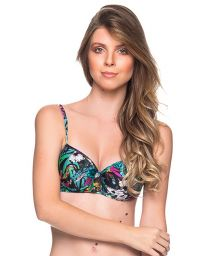 Colorful floral underwired balconette - TOP BASE ATALAIA