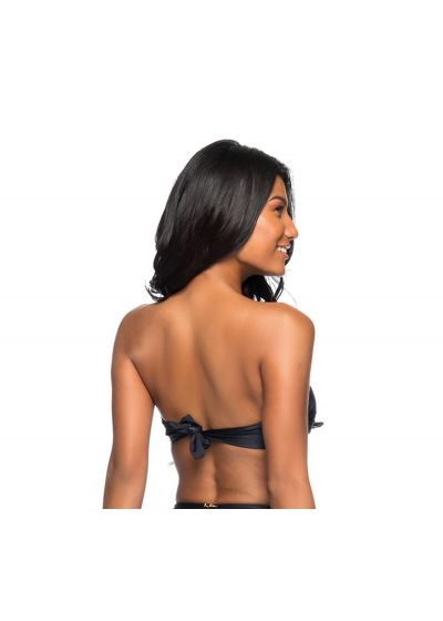 Black laced bandeau top - TOP AMARRA PRETO