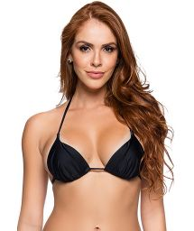 Black padded triangle sliding top - TOP CORTINAO COR PRETO
