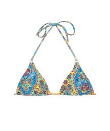 Blommor triangel bikini i vintage stil - SOUTIEN SARI TRI FIO