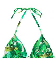 Green triangle bikini top - TOP FOLHAGEM HOT PANT