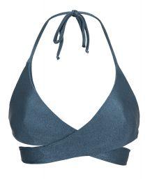 Skifferfärgad bikini-BH med omlottknytning - TOP GALAXIA TRANSPASSADO