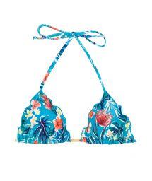 Wavy floral blue triangle top - TOP ISLA FRUFRU