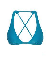 Blue crossover triangle halter top - TOP NILO CORTINAO